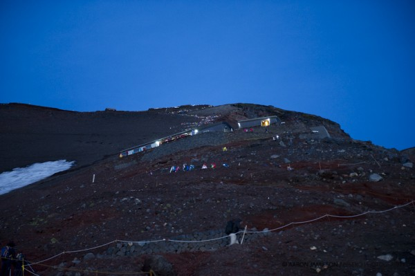 4am - head torch line up for the summit...