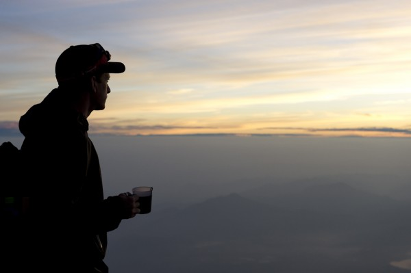 Top of Fuji, Sunrise, Coffee - Awesome.